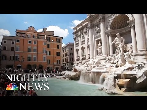 Rome's Trevi Fountain Collects $1.5 Million In Coins For Charity | NBC Nightly News