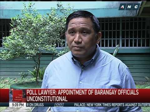Barbers files bill seeking to postpone barangay, SK polls