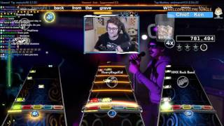 PLAYING ROCK BAND WITH HARMONIX!!! (The game makers) + Painkiller 100% FC!
