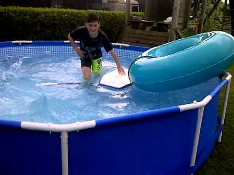 Rubber ring in swimming pool pt.1 - YouTube