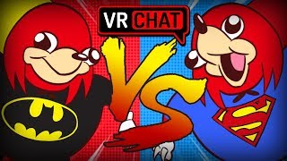 BATMAN VS SUPERMAN! - Ugandan Knuckles Justice League Tryouts  (VRchat Funny Moments)