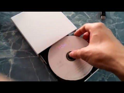 เครื่องอ่านและบันทึกแผ่นซีดีดีวีดี External Optical Disk Drive External DVD Combo CD RW USB 2 0 Burn
