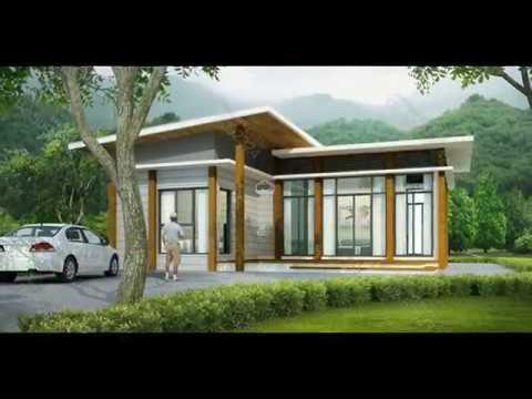 [แบบบ้านฟรี] แบบบ้านชั้นเดียว Modern, Tropical ดาวน์โหลดฟรี 2559 [BIG CAN]