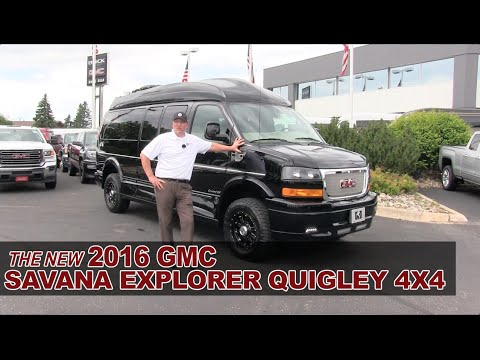 New 2016 GMC Savana Explorer Quigley 4X4 Lifted Conversion Van - White Bear Lake, St Paul, Mpls, MN
