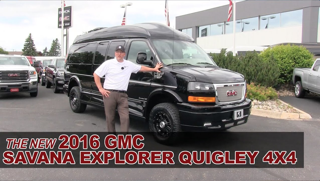 New 2016 GMC Savana Explorer Quigley 4X4 Lifted Conversion Van