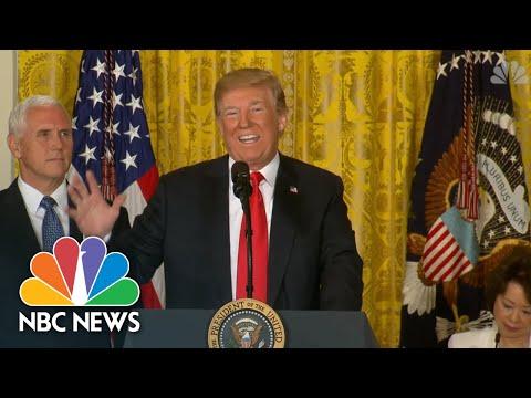 President Donald Trump Blames Democrats, Says U.S. 'Will Not Be A Migrant Camp' | NBC News