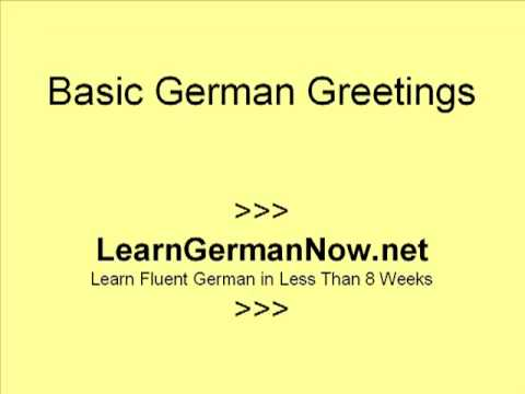 Learn how to speak german greetings hello bye youtube m4hsunfo Image collections