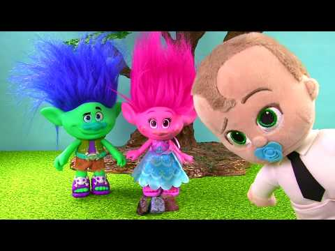 Trolls Poppy Branch Boss Baby Fly Barbie Airplane to Dig It Toys for Gold Silver