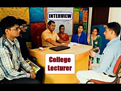 College Lecturer Interview