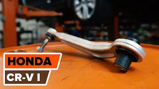 How to replace Upper rear suspension Arm on HONDA CR-V 1 TUTORIAL | AUTODOC