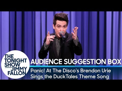 Jimmy Fallon vs. Brendon Urie Sings Duck Tales Theme Song