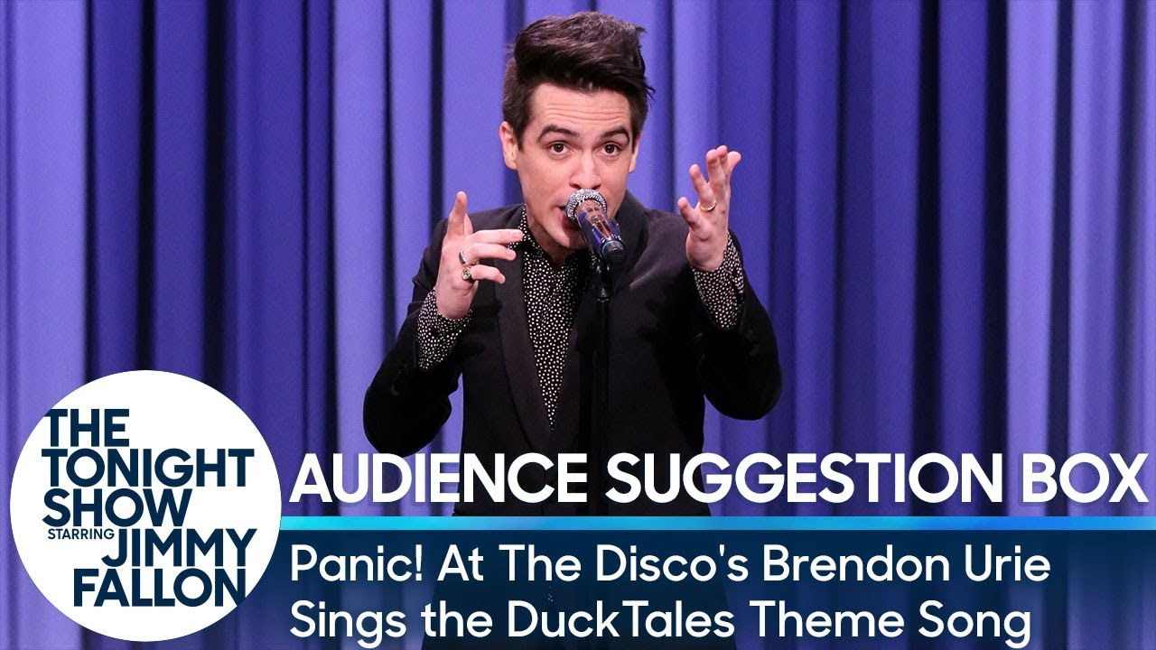 Panic At The Discos Brendon Urie Sings The Ducktales Theme Song