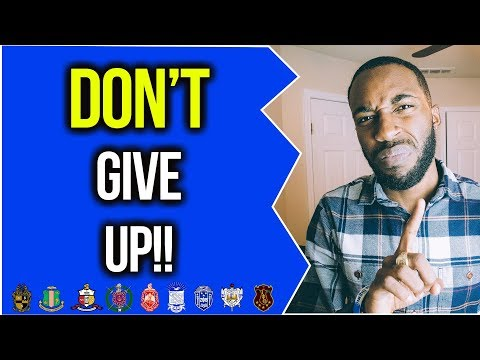 DON'T GIVE UP! | NPHC ADVICE | COREY JONES