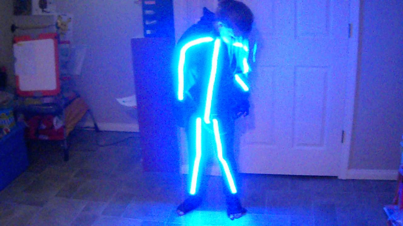 rgb stick man halloween costume youtube - Halloween Led Costume
