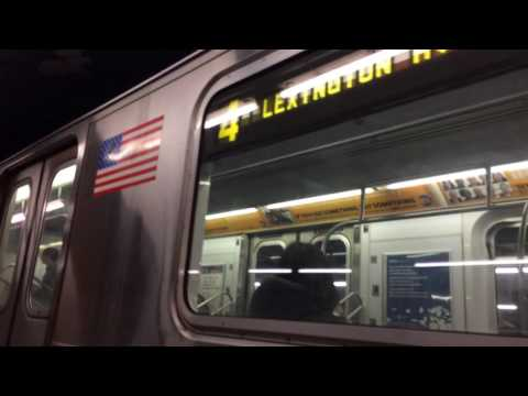IRT Eastern parkway line:R142A (4) train action @Franklin Ave