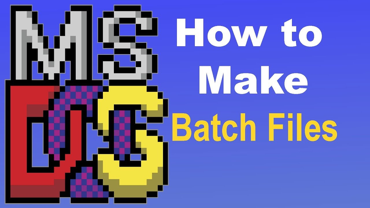 Batch File Programming The Basics With Examples Youtube