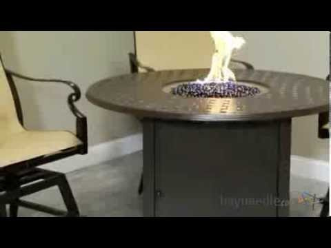 Round Counter Height Fire Pit Table   Chestnut Brown   Product Review Video    YouTube