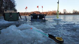 Оставил жерлицы без присмотра на минуту а там уже сработка Зимняя Рыбалка в декабре