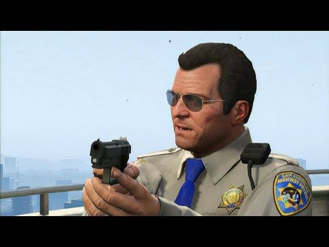 GTA V - Mexican Standoff with FIB, IAA, Merryweather and Police