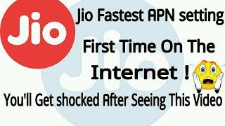 Various Jio APN, Shocking APN
