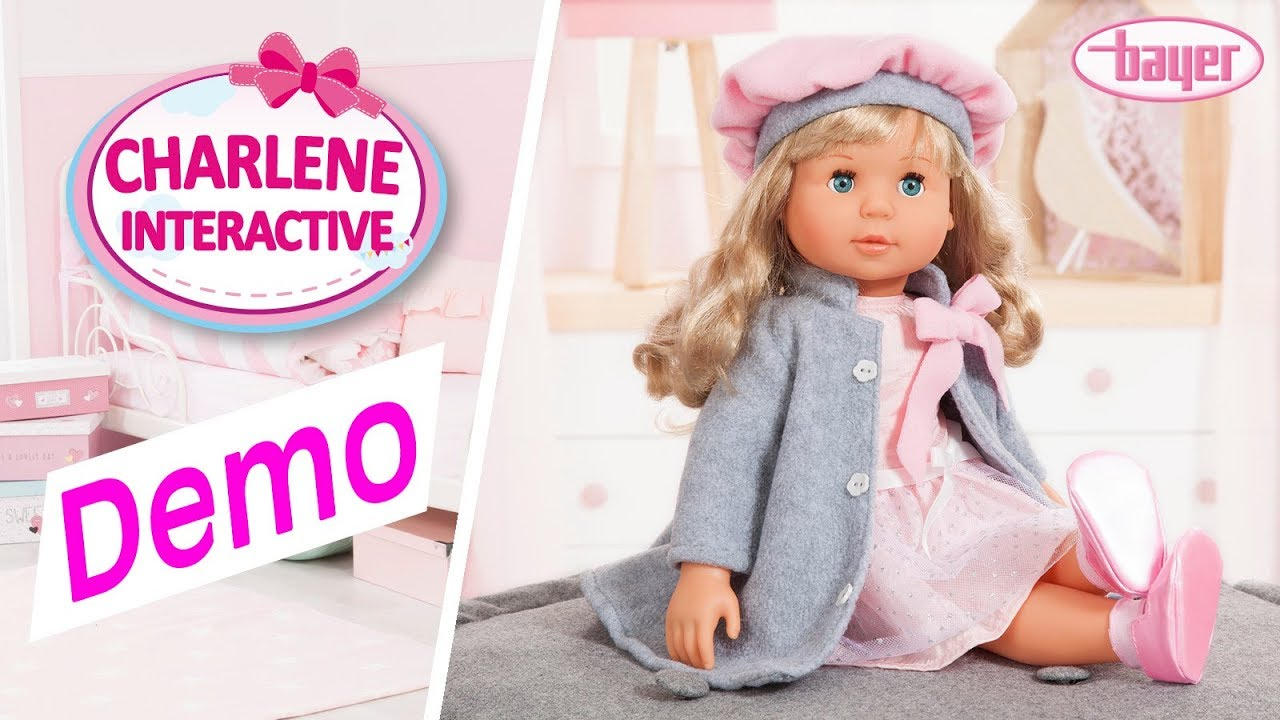 Charlene Interactive Puppe Doll Demo Bayer Design I Youtube