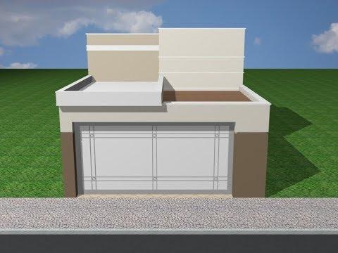 Projeto casa terrea 6x22 100 m moderna youtube for Planos de casas 5x25