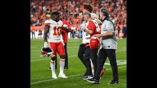 Chiefs' Tyreek Hill on Patrick Mahomes knee injury