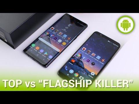 """Samsung Galaxy Note 8 vs OnePlus 5T: flagship a confronto con il suo """"killer"""""""