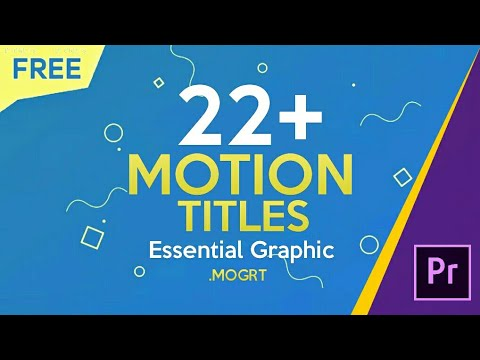 Download FREE 22+ Motion Titles Preset for Premiere Pro | Essential ...