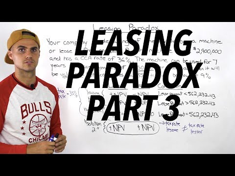 FIN 401 - Leasing Paradox (Part 3) - Ryerson University