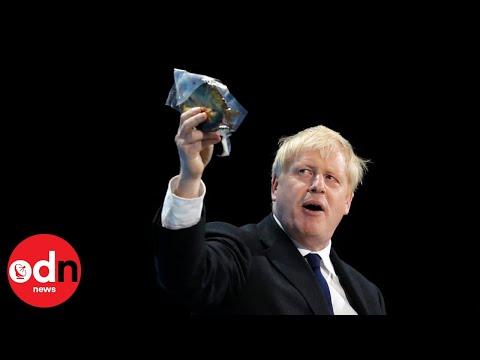 Boris Johnson Waves Kipper During Attack on 'EU Bureaucrats'