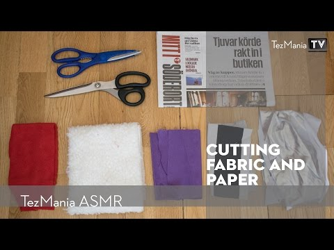 ASMR - cutting fabric and paper