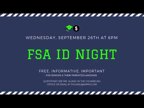 September 26th is FSA ID Night