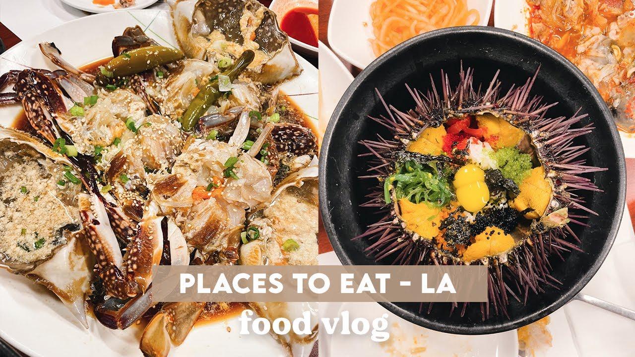 The Best RAW CRAB in LA | VLOG | Thai, Sugarfish, Veggie, Yakitori, Bingsoo, Uni Rice | wah