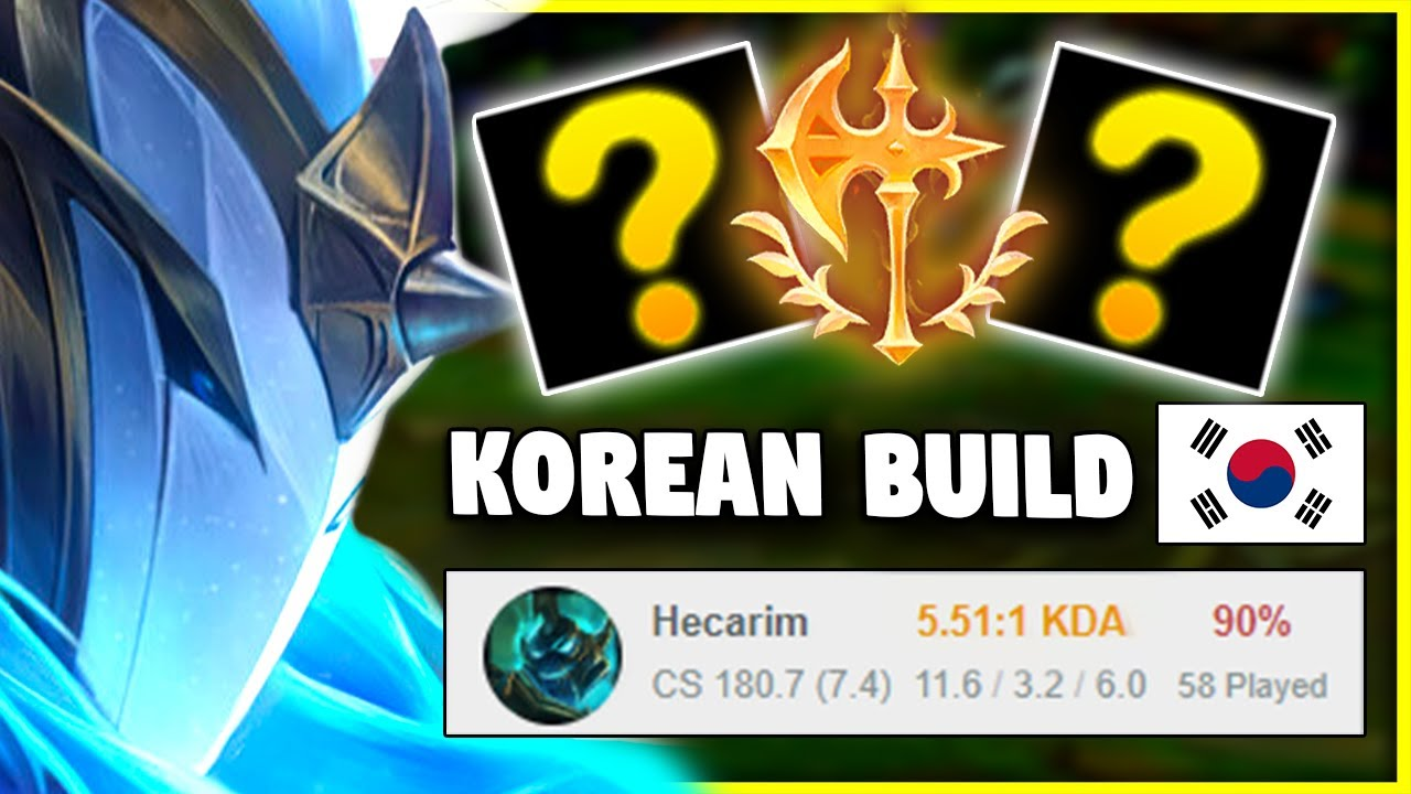 This 93% Winrate KOREAN Hecarim build is STOMPING Challenger..