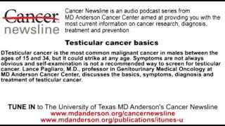 Testicular cancer basics