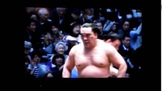 日馬富士vs碧山 平成27年大相撲春場所 Harumafuji vs Aoiyama SUMO.