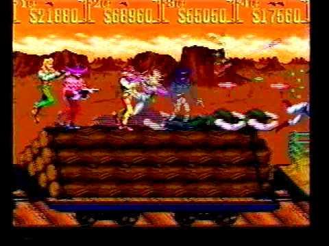 Sunset Riders playthrough Konami 4-players arcade game -Not MAME-