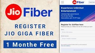 Register Jio Giga Fiber Full Information | How to Register Jio Fiber | Get Free 30-Days Trial.