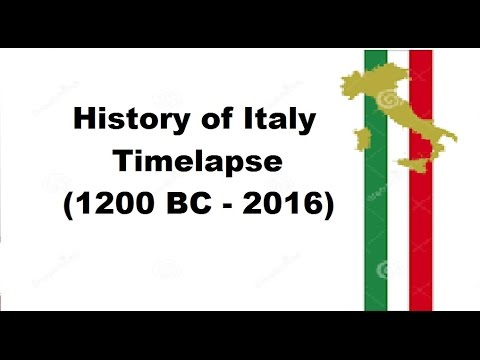 History of Italy - Timelapse (1200 BC - 2016)