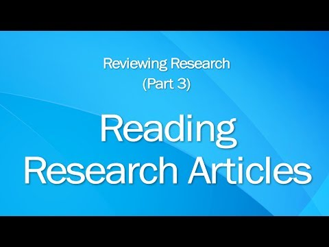 3: Reading Research Articles