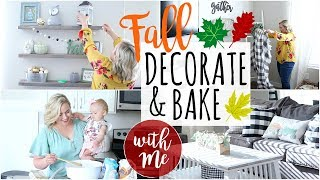 NEW!! FALL DECORATE & BAKE WITH ME!! FALL HOUSE TOUR 2019