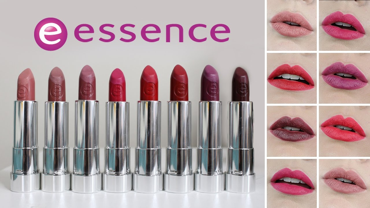 essence matte lipstick swatches all shades youtube. Black Bedroom Furniture Sets. Home Design Ideas