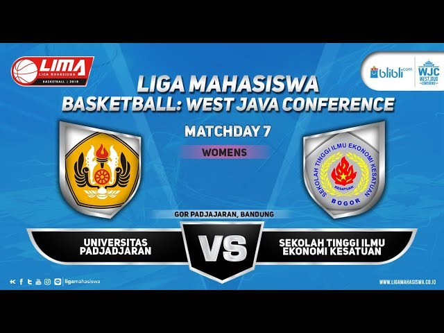 WOMEN'S UNPAD VS STIE KESATUAN LIMA BASKETBALL: BLIBLI.COM WJC 2018