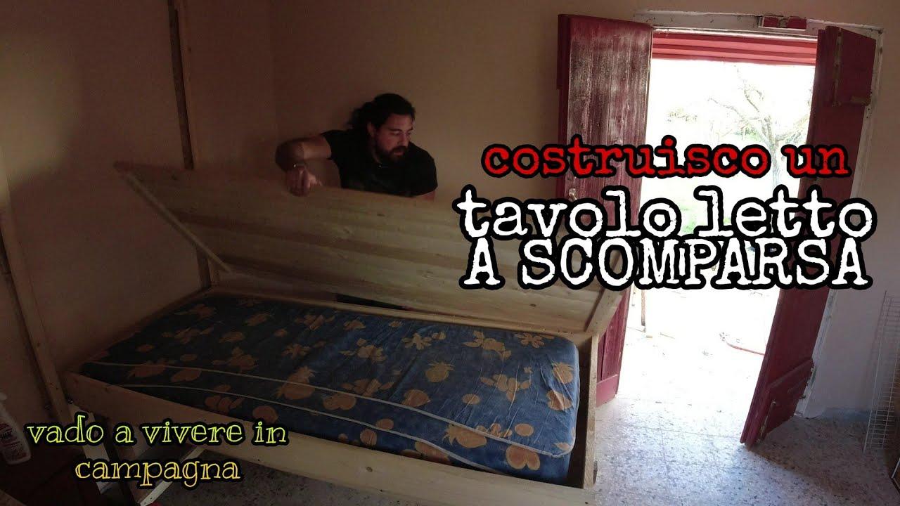TAVOLO LETTO A SCOMPARSA (fai da te) - YouTube