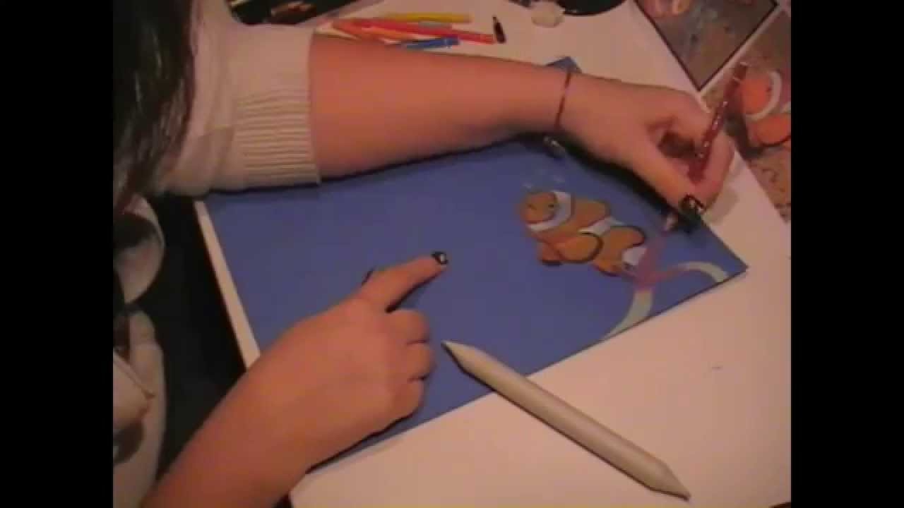 Come Fare Un Disegno A Pastello Pesci Pagliaccio Youtube