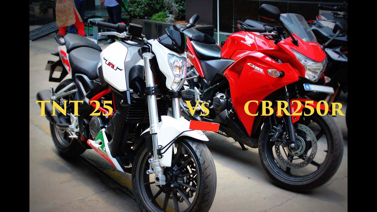 Benelli TNT 25 Vs Honda CBR250R