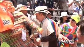 Presidente Santos Presente en Carnaval de Negros y Blancos 2013