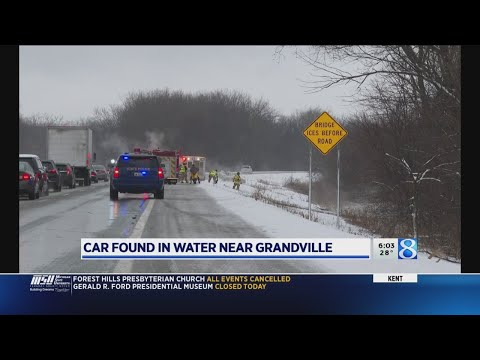 WOOD Radio Local News - Car found in water off I-196 in Grandville