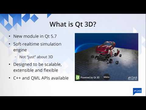 Qt 3D: integrating 3D into user interfaces–Giuseppe D'Angelo